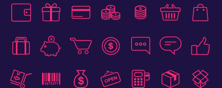 Ecommerce Icons designers freebies