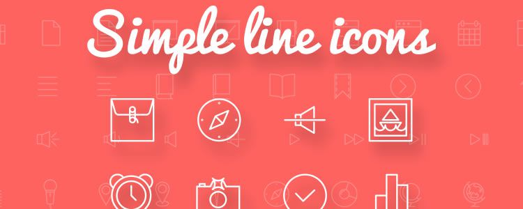 Simple Line Icons designers freebies