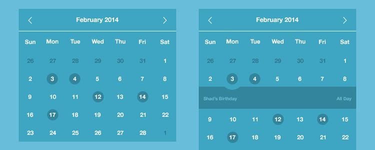 Easy Calendar designers freebies