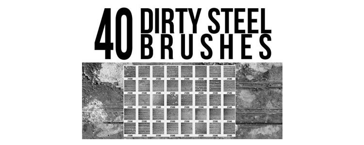 Dirty Steel Brushes designers freebies