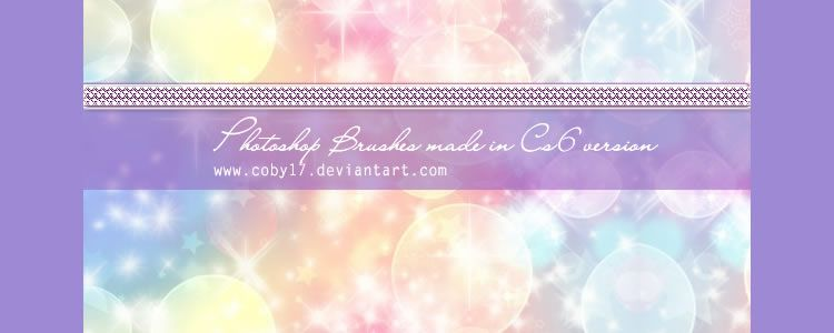 Coby Sparkles Brushes designers freebies