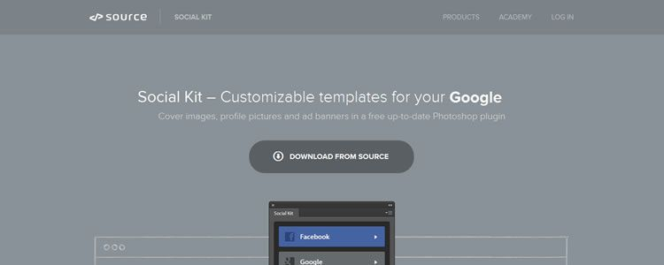 Social Kit - Free Photoshop Plugin with Social Templates designers freebies