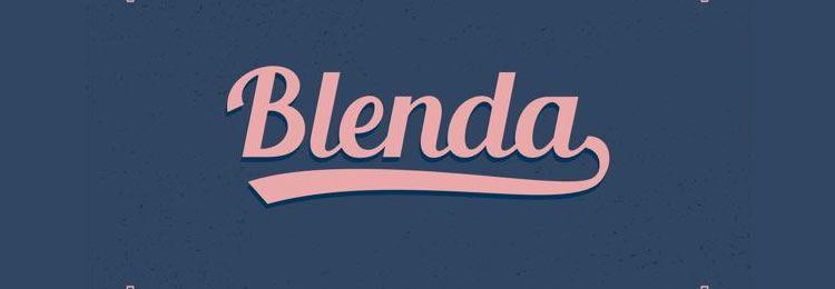 Blenda Script font freebies designers