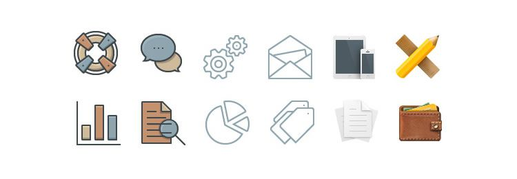 Business Icons icon set freebies designers