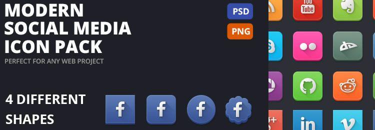 Modern Social Media freebies designers
