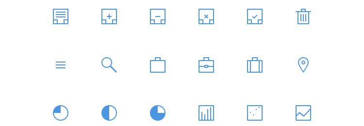Thin icons freebies designers