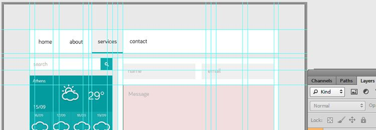 Flat Style UI PSD freebies designers