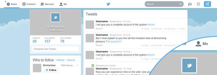 Twitter GUI PSD freebies designers