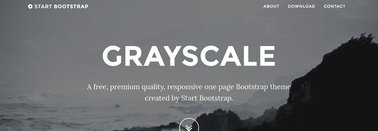 Start One Page Bootstrap template freebies designers