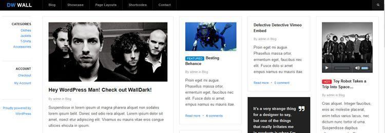 WallPress WordPress Theme freebies designers