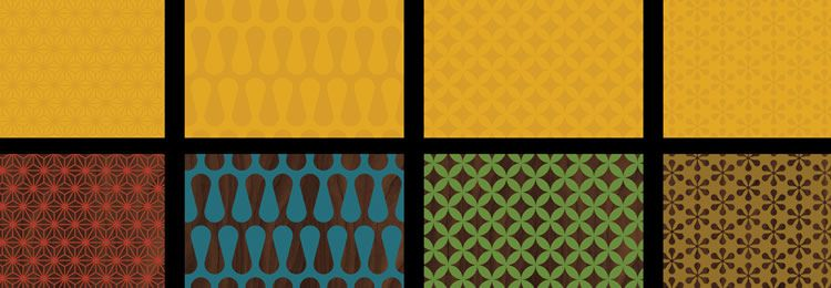 Mid-Century Patterns AI freebies designers