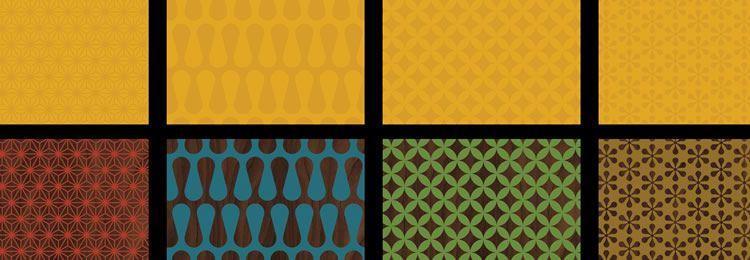 Mid-Century Patterns AI freebies designers