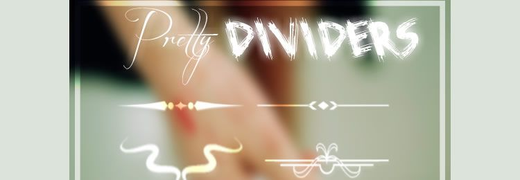 Pretty Dividers Photoshop Brushes freebies designers