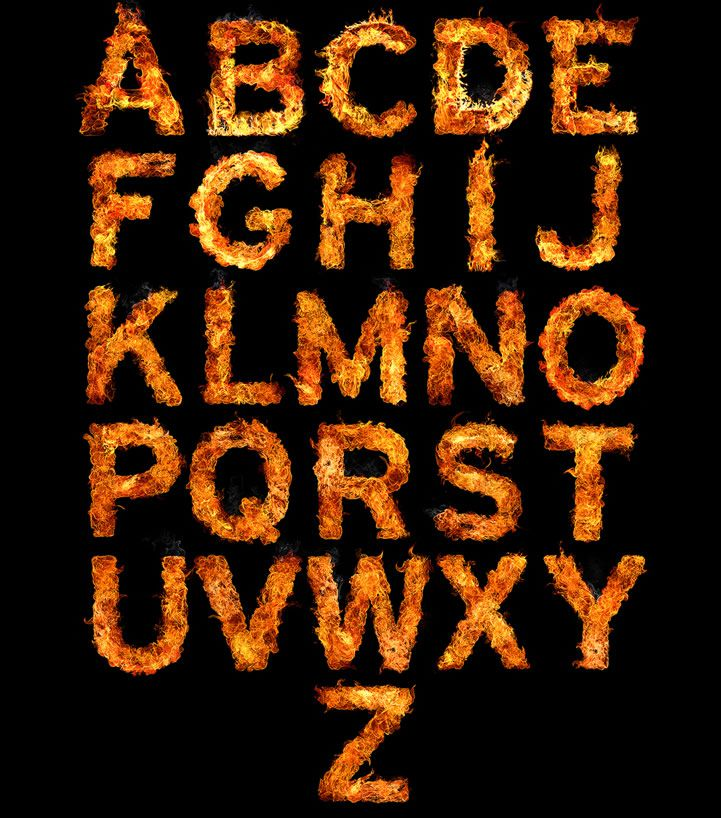 Inferno Typography Fire Typography 2014 Series full alaphabet