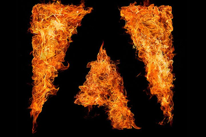 Inferno Typography Fire Typography 2014 Series adobe logo example
