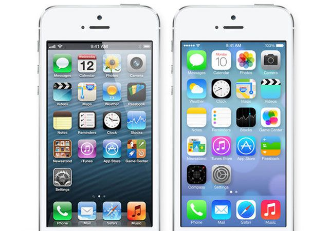 iOS6 and iOS7 UI comparison