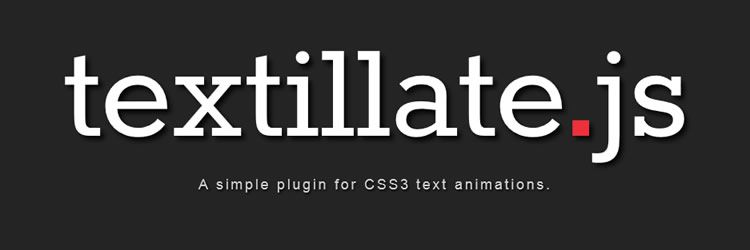 Textillate.js fantastic plugin applying amazing CSS3 animations any block text