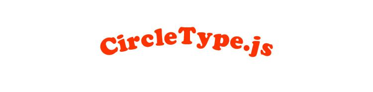 CircleType.js jQuery plugin setting type circle Typography Text
