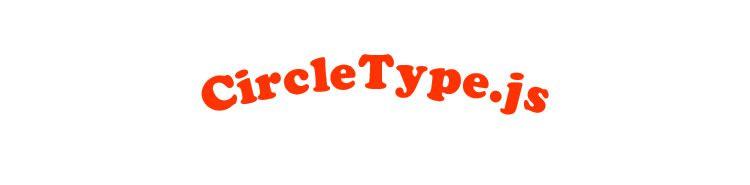 CircleType.js jQuery plugin setting type circle Typography Text