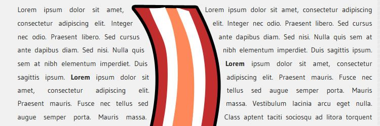Bacon plugin wrap text around bezier curve line