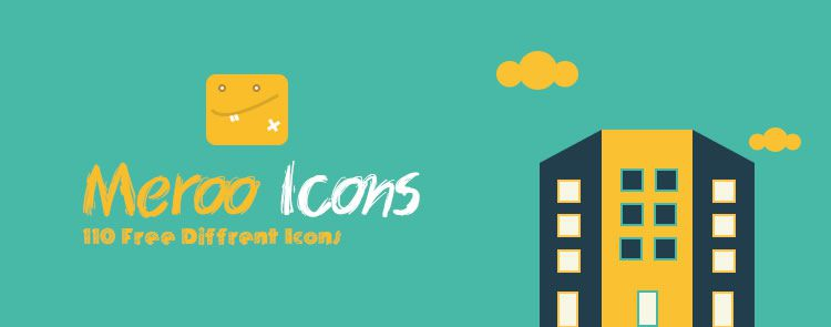 Free Meroo Flat-Styled Icon set Splash Preview
