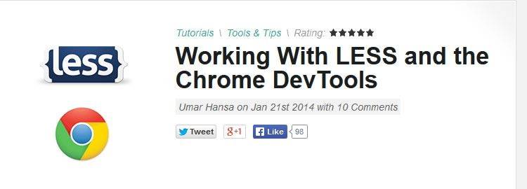LESS and the Chrome DevTools - Weekly Design News