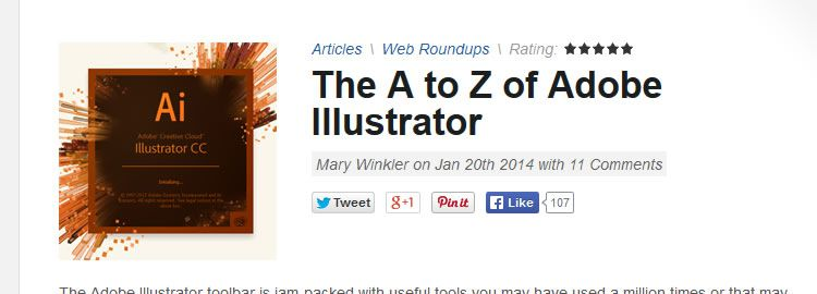 A to Z of Illustrator - Weekly Design News