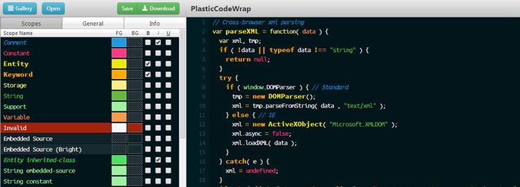 TmTheme Editor - A color scheme editor for SublimeText - Weekly Design News