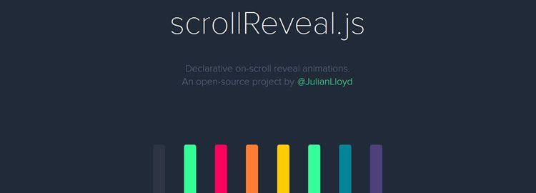 scrollReveal.js - Declarative on-scroll reveal animations - Weekly Design News