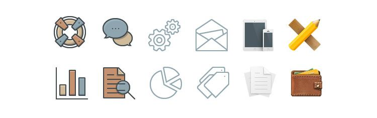 Business Icons - Weekly News