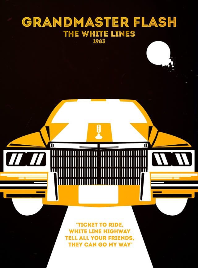 Grandmaster Flash - The White Lines Rap Poster Series