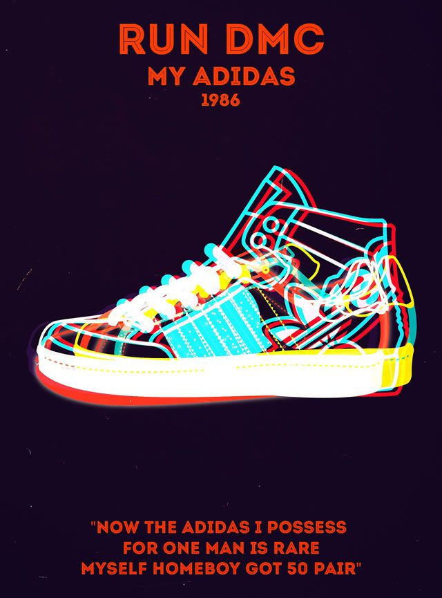 Run DMC - My Adidas Rap Poster Series