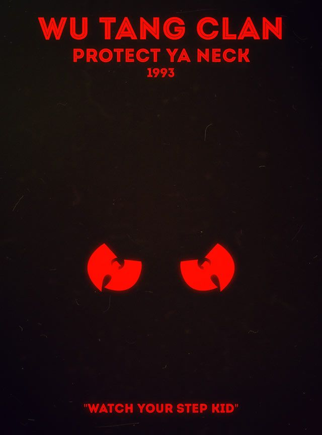 Wu Tang Clan - Protect Ya Neck Rap Poster Series