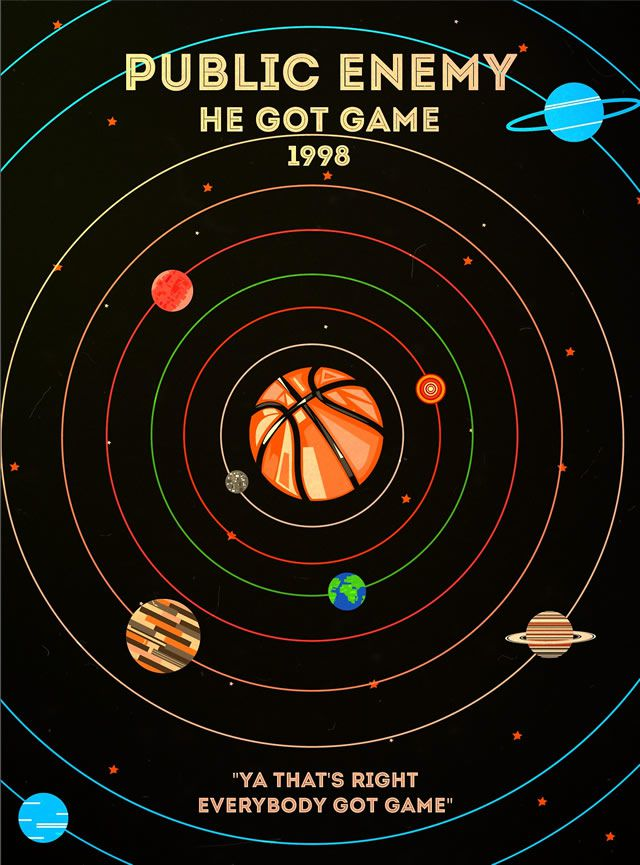 Public Enemy - He got Game Rap Poster Series