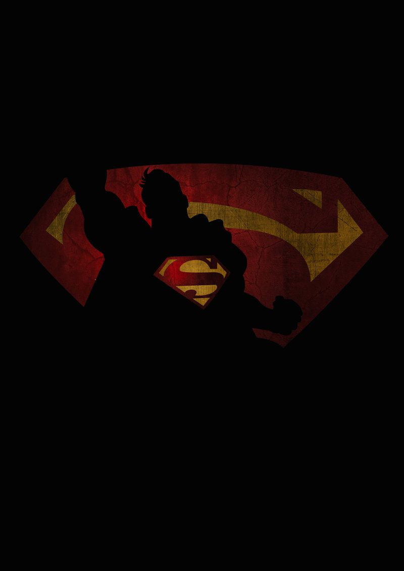 Superman superhero flat poster