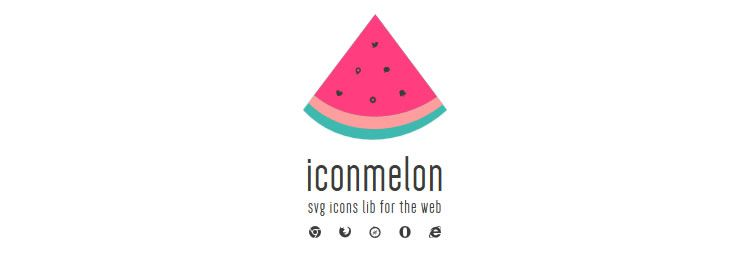 iconmelon - Quickly create a library of SVG icons - Web based small tiny app