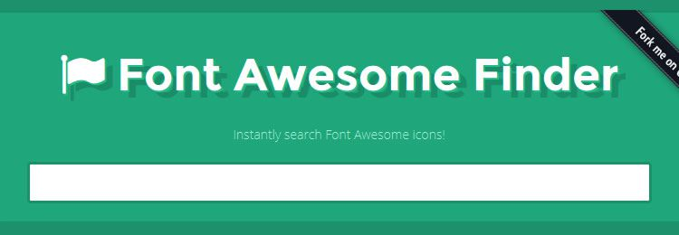 FontAwesome Finder - Web based small tiny app