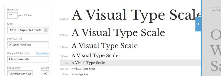 Type Scale - Web based small tiny app