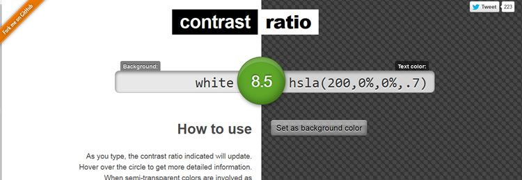 Contrast Ratio - Web based small tiny app