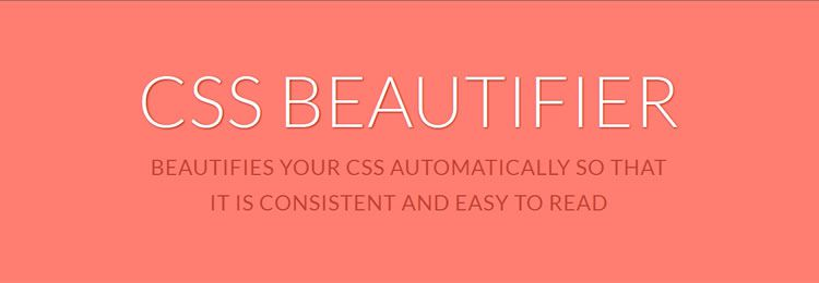 CSS Beautifier - Web based small tiny app