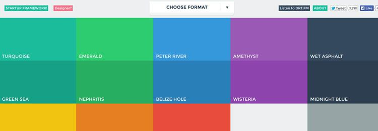 Flat UI colors reference - Web based small tiny app