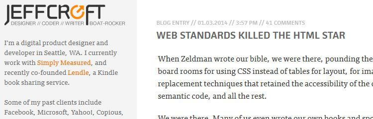 web standards killed the HTML - Weekly News