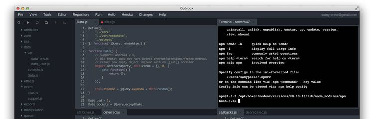 Codebox -  A complete and modular IDE, that can run on your desktop - Weekly News