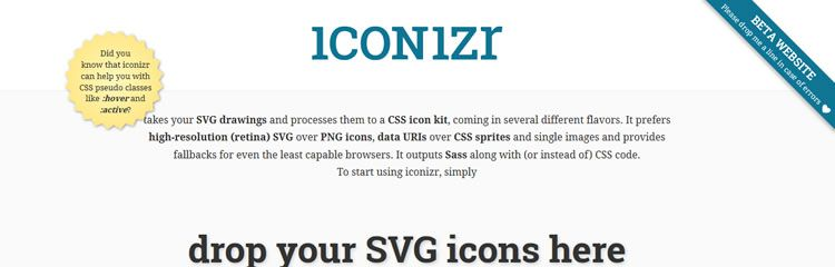 iconizr -  - A PHP command line tool for converting SVG images to a set of CSS icons - Weekly News