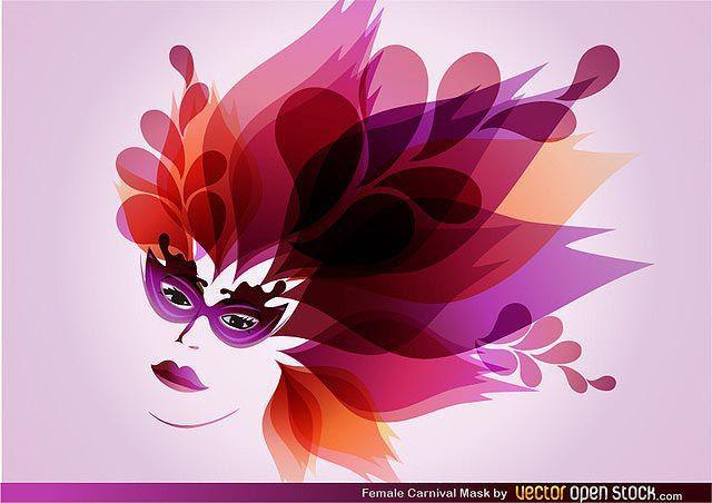 Female Carnival Mask fresh best free vector packs kits
