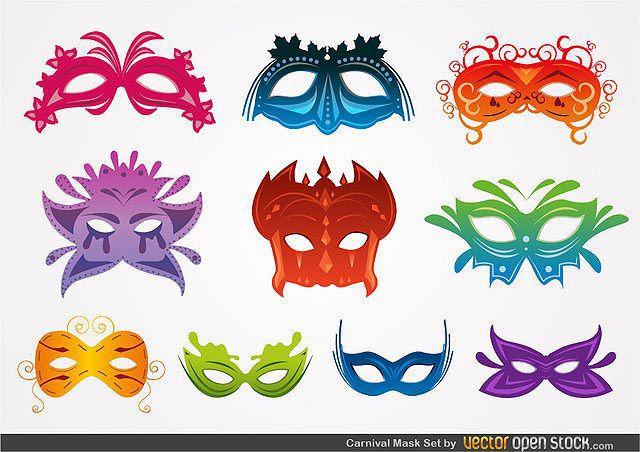 Carnival Mask Set fresh best free vector packs kits