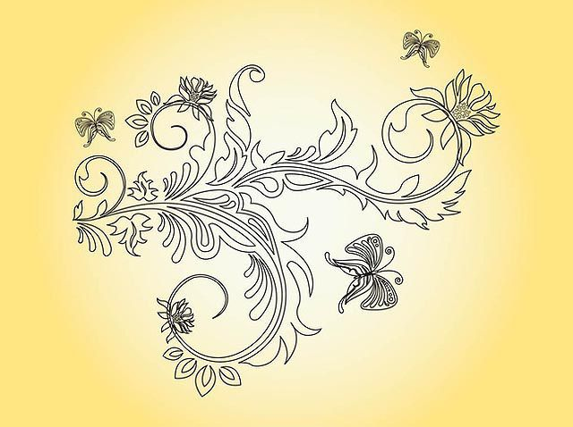 Flower and Butterflies Graphics fresh best free vector packs kits