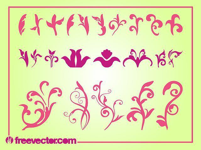 Curvy Blooming Flower Pack Silhouette fresh best free vector packs kits