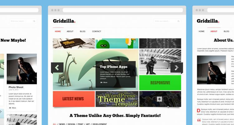 photoshop gridzilla includes 5 page modern clean web template psd photoshop free