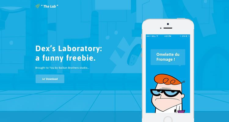 Dexters The Lab modern clean web template psd photoshop free
